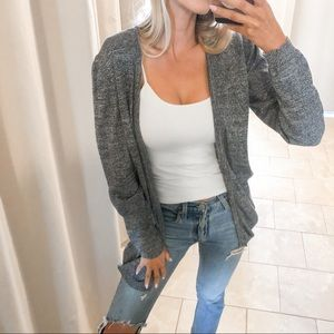 Asos Gray Cotton Cardigan